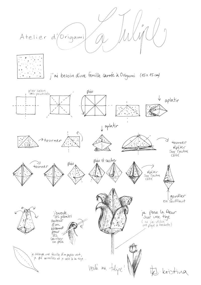 tulipe en origami