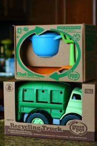 Grenn toys camions bennes