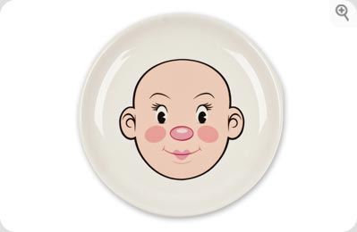 Miss food face plate