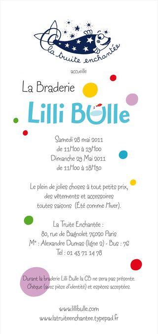 Braderie Lilli Bulle Mai 2011