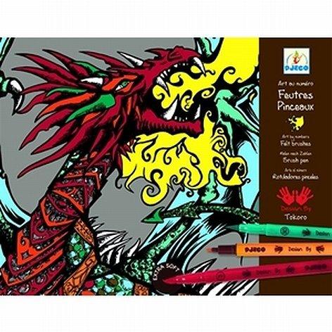 Feutres pinceaux dragons
