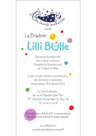 Braderie Lilli Bulle Novembre 2011