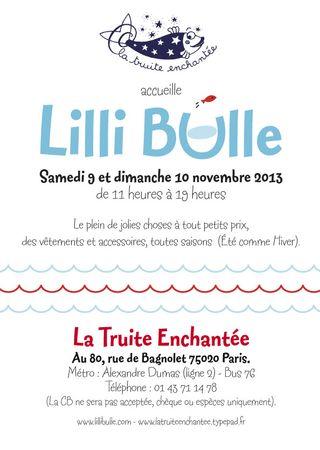 Braderie Lilli Bulle 11-13